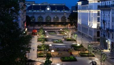 Lyon Brotteaux, vue de nuit - Photographie Studio Erick Saillet