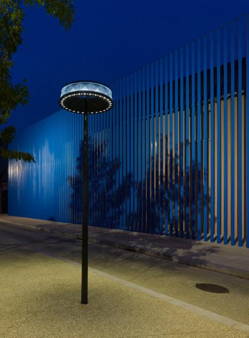 Luminaire vue de nuit, Poitiers - Photographie Boy de la Tour