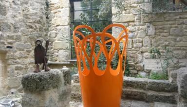 Vase orange gamme Couronne