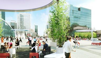 Aurel design urbain, Paris la Défense - Photographie Stéphane Chambert